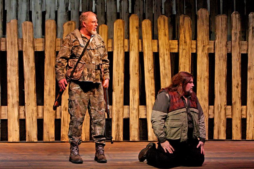 Der Freischütz, Kaspar (2010), with Ben Bongers (Max)